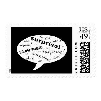 SHH! it's a surprise party! : comic speech bubble Postage