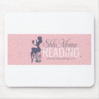 Shh mamáes que leen el cojín de ratón alfombrillas de ratón