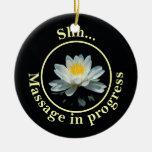 Shh... Massage in progress Door Sign Ceramic Ornament