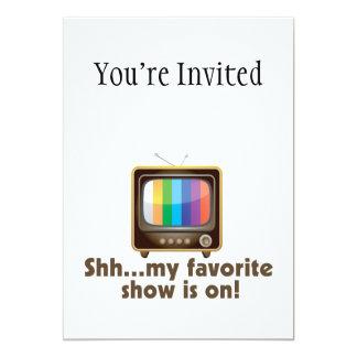 """Shh mi demostración preferida está en la invitación 5"""" x 7"""""""