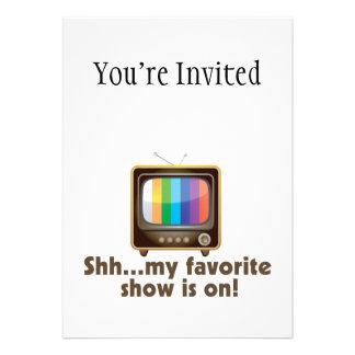 Shh mi demostración preferida está en la televisió comunicado personalizado