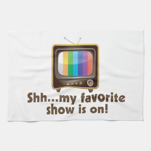 Shh mi demostración preferida está en la televisió toallas