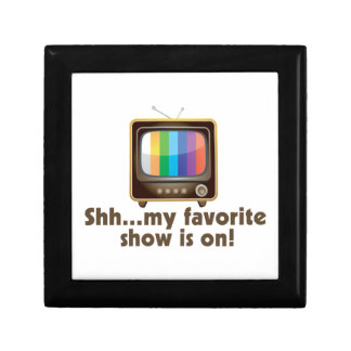 Shh My Favorite Show Is On Television Jewelry Box