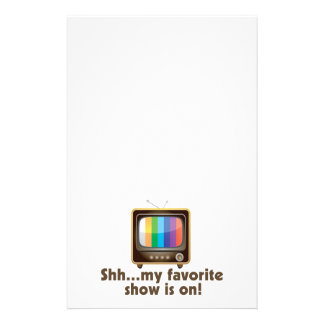 Shh My Favorite Show Is On Television Stationery