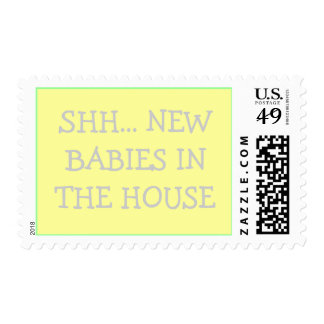 SHH... NEW BABIES IN THE HOUSE POSTAGE STAMP