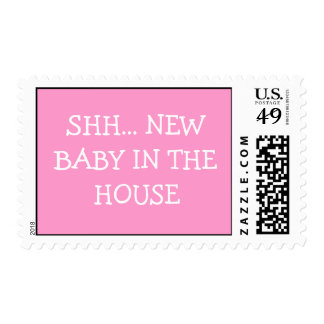 SHH... NEW BABY IN THE HOUSE POSTAGE STAMP