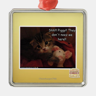 Shh!!! Piggy!! Christmas Tree Ornament