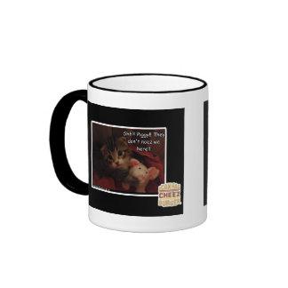 Shh!!! Piggy!! Coffee Mugs