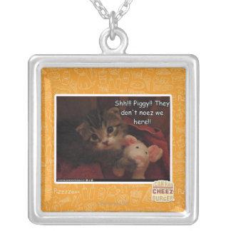 Shh!!! Piggy!! Personalized Necklace