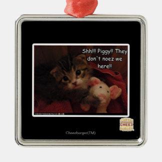 Shh!!! Piggy!! Ornament