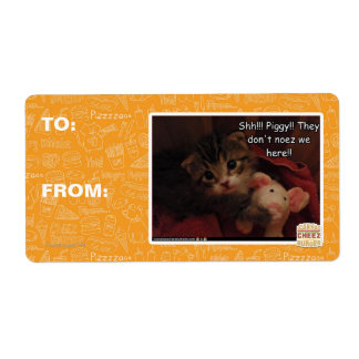 Shh!!! Piggy!! Personalized Shipping Label