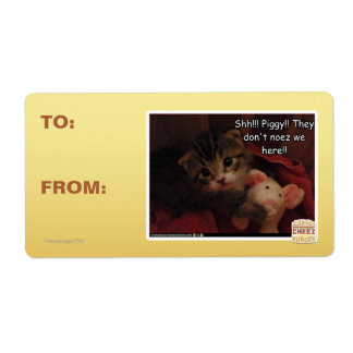 Shh!!! Piggy!! Personalized Shipping Labels