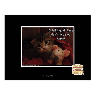 Shh!!! Piggy!! Post Card