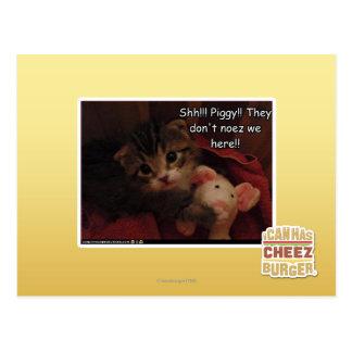 Shh!!! Piggy!! Postcards