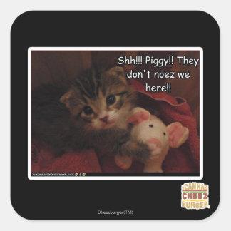 Shh!!! Piggy!! Sticker