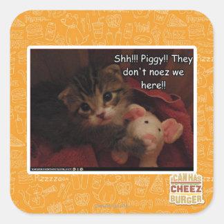 Shh!!! Piggy!! Stickers