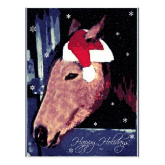 SHH! Snowy Holiday Horse Postcard