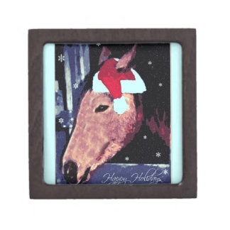 SHH Snowy Holiday Horse Premium Jewelry Boxes
