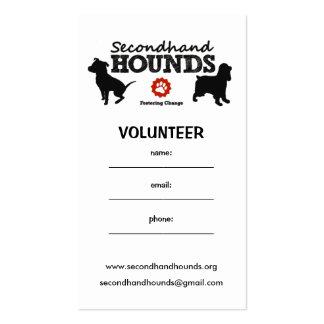 SHH tarjeta de visita voluntaria