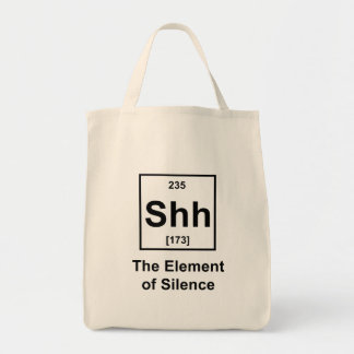 Shh, The Element of Silence Tote Bag