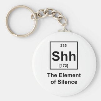 Shh, The Element of Silence Basic Round Button Keychain