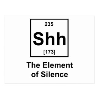Shh, The Element of Silence Postcard