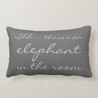 Shh ... there's an elephant in the room lumbar pillow