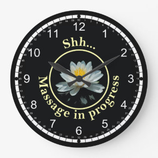 Shh...Treatment in Progress Large Clock