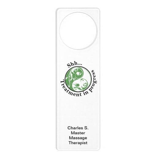 Shh Treatment in Progress, Scrolling Yin and Yang Door Hanger