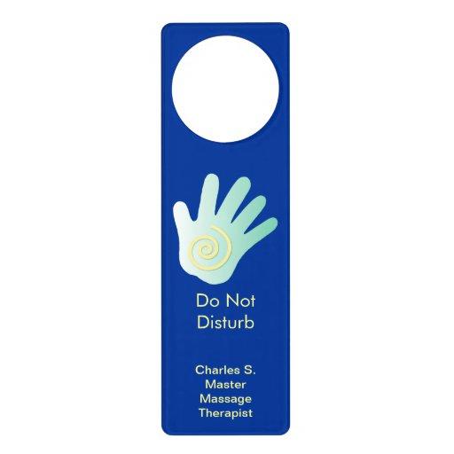Shh Treatment in Progress with Energy Hand Door Knob Hangers