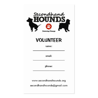 SHH Volunteer Business Card