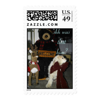 shh was that him? postage stamps