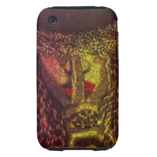 Shh woman finger  Abstract Pattern Iphone3 Case