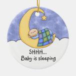 Shhh Baby Sleeping Door Hanger Christmas Tree Ornament