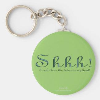 Shhh Basic Round Button Keychain