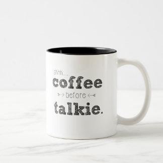 Shhh… Café antes de la taza de la película hablada