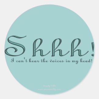 Shhh Classic Round Sticker