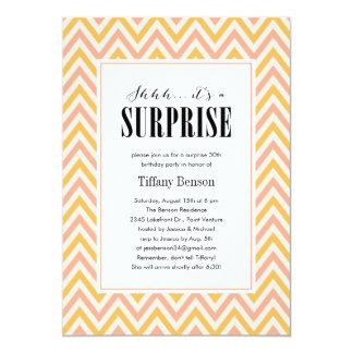 Shhh… es invitaciones de un fiesta de sorpresa invitación 12,7 x 17,8 cm