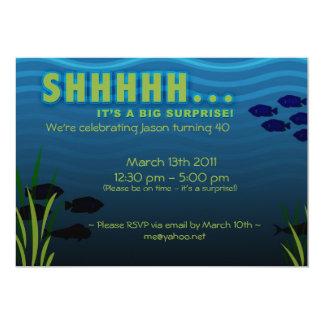 ¡SHHH! Es una fiesta de cumpleaños de la sorpresa Invitación 12,7 X 17,8 Cm