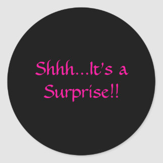 ¡Shhh… es una sorpresa!! Pegatina Redonda