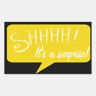 Shhh fiesta de sorpresa - pegatina - negro y oro