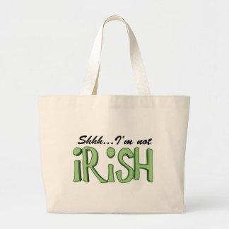 Shhh....I'm Not Irish Tote Bags