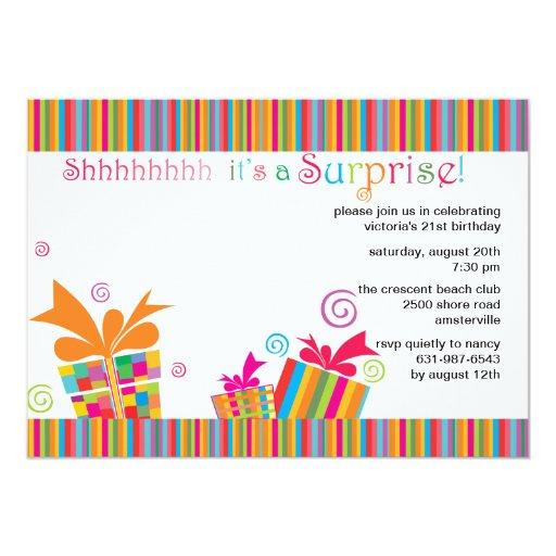 Invitaci n para fiestas sorpresa imagui - Fiestas sorpresa de cumpleanos para adultos ...