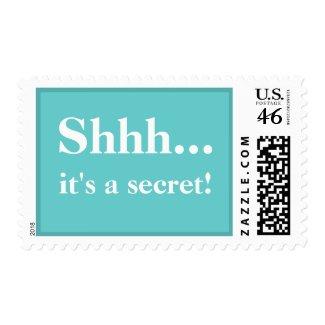 Shhh....It's A Secret Postage Stamp - Tiffany stamp