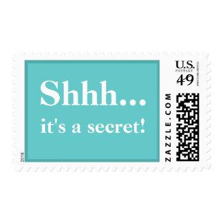 Shhh....It's A Secret Postage Stamps - Tiffany