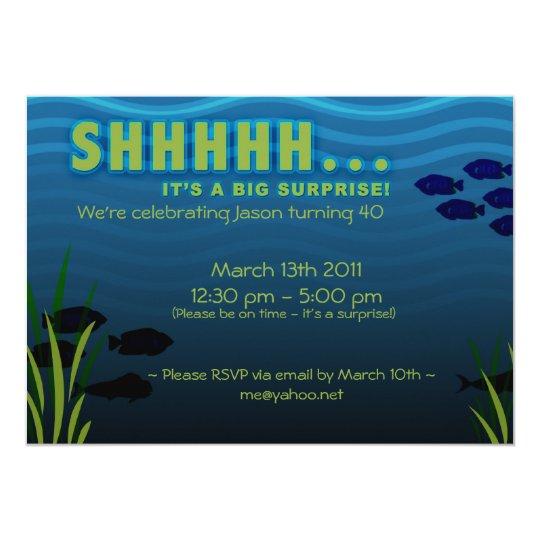 shhh it s a surprise birthday party invitation zazzle com