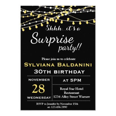 Shhh DONT BLOW IT Card – Surprise Party Birthday Invitations