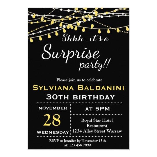 shhh its a surprise party birthday invitation zazzle com