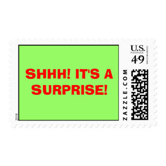 SHHH! IT'S A SURPRISE! POSTAGE STAMP