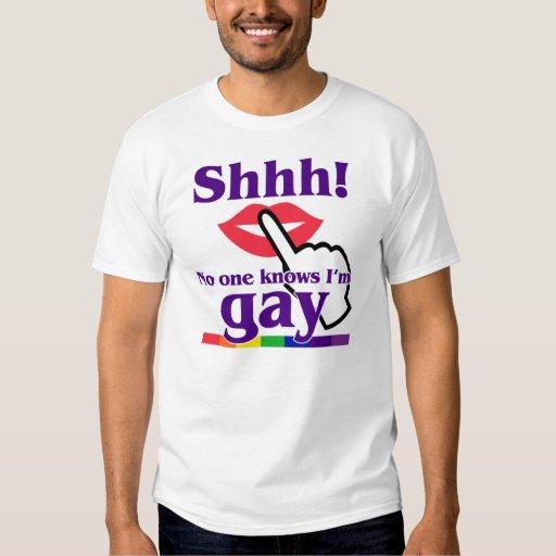 ¡Shhh! Nadie sabe que soy gay Playeras